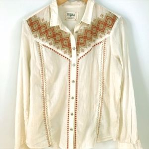 Holding Horses Anthropologie Iverie Western Top